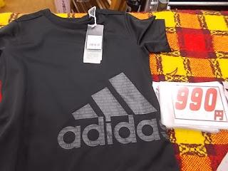 コストコアウトレット、アディダスボーイズTシャツ990円黒