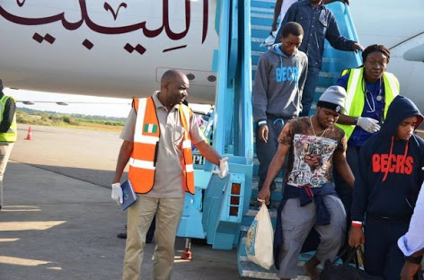 The 97 Nigerians Deported From South Africa For Various Offences Arrives In Lagos