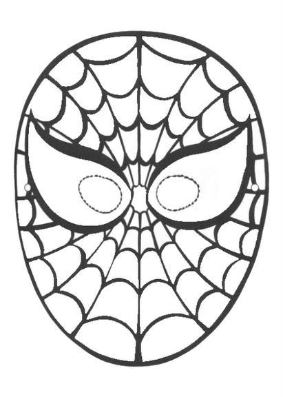 Imagens Para Colorir Mascara Do Homem Aranha