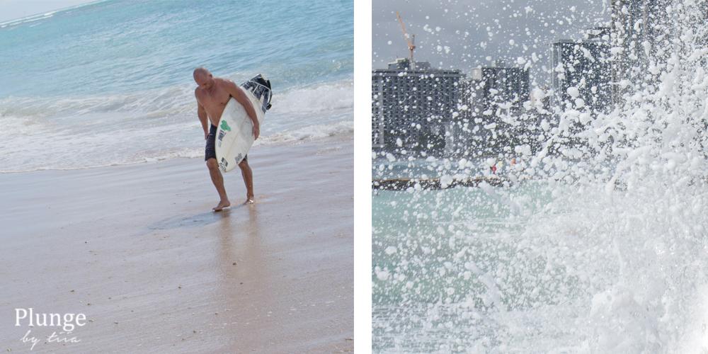 surfer in waikiki