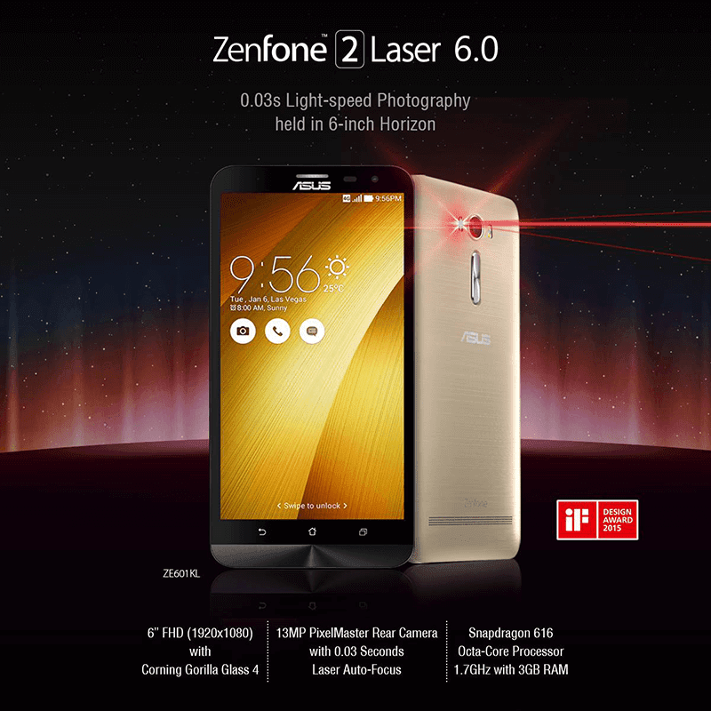 ZenFone 2 Laser 6 Inch now in the Philippines