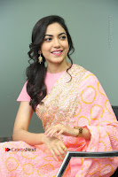 Actress Ritu Varma Pos in Beautiful Pink Anarkali Dress at at Keshava Movie Interview .COM 0215.JPG