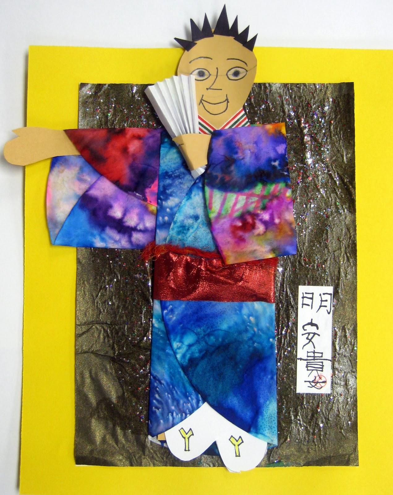 Cassie Stephens In The Art Room Self Portrait In A Kimono