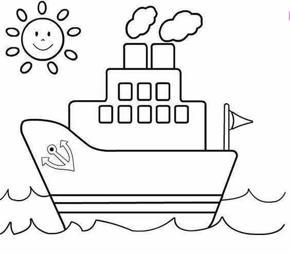 Tranh tô màu thuyền