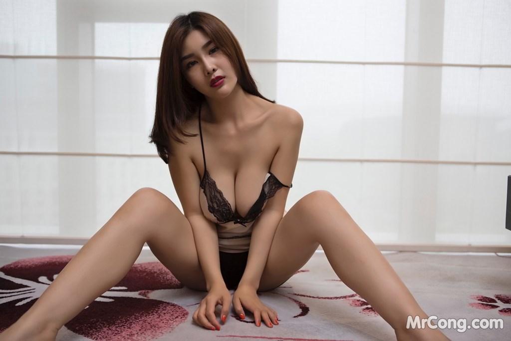 Image Yan-Pan-Pan-Part-5-MrCong.com-008 in post Ngắm người đẹp Yan Pan Pan (闫盼盼) khoe dáng sexy với váy ngủ (25 ảnh)