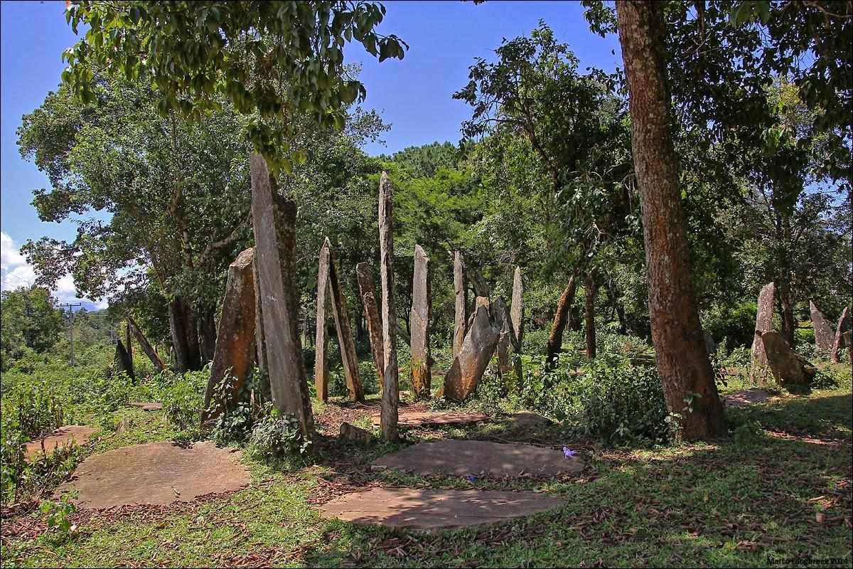 Megalith Maniac: Standing Stones of the Hintang Archaeological Park,  Houaphan, Northeast Laos (near Sam Neua)