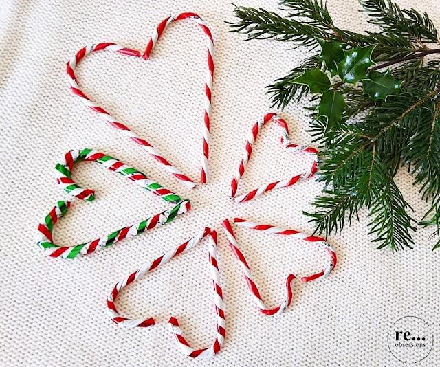 Christmas decor, wicker paper, lollipops, papierowa wiklina, Boże Narodzenie, lizaki