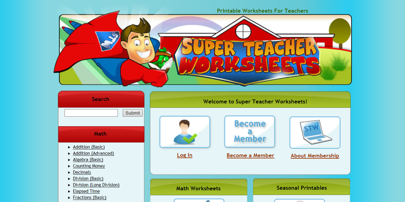 Primary Junction: Super Teacher Worksheets