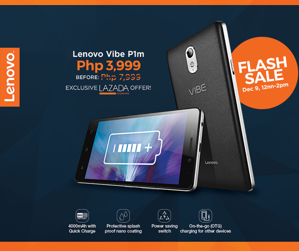 Lenovo VIBE P1m sale via Lazada PH