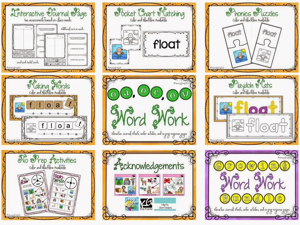 http://www.teacherspayteachers.com/Product/Phonics-Word-Work-oa-oe-ow-1204735