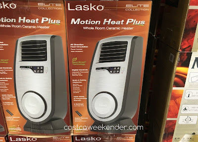 Stay warm this winter with the Lasko Motion Heat Plus Whole Room Ceramic Heater