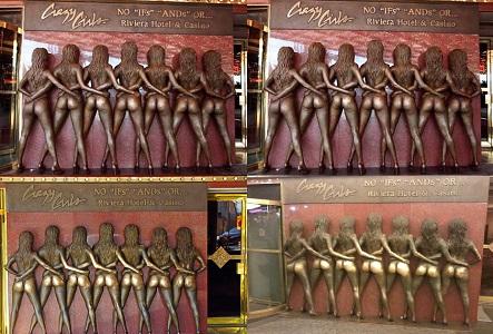 Çılgın Kızlar Heykeli Las Vegas