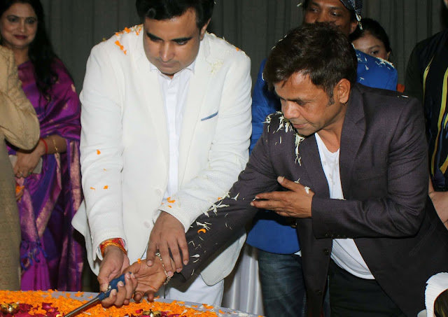 Rajpal Yadav came for Pandit Pawan Kaushik birthday at J W Marriot,Juhu