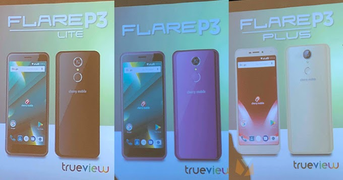 Cherry Mobile Flare P3 series: Android Go, Trueview screens