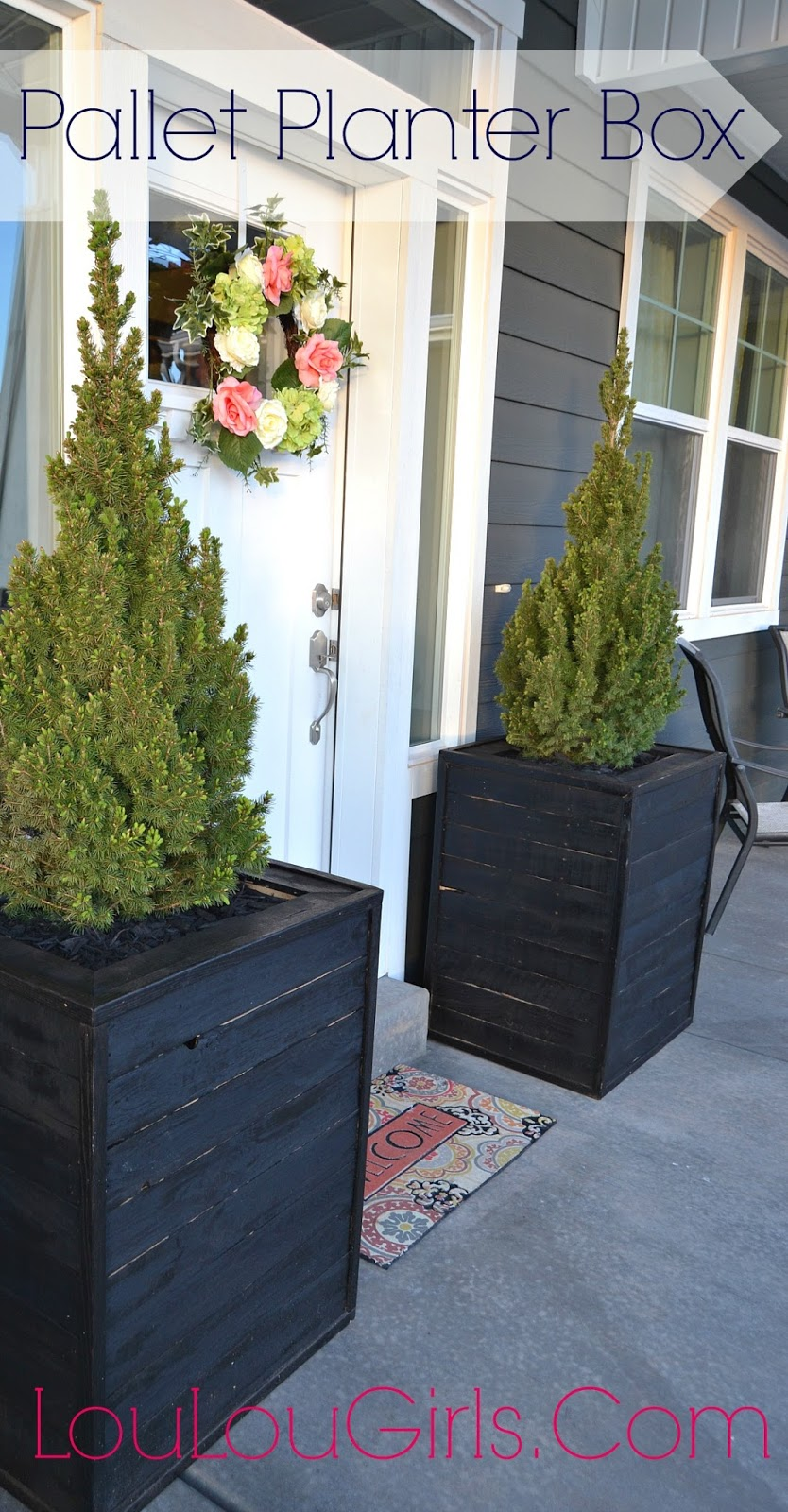 Diy massive planter boxes made from pallets lou lou girls for Jj fish n chicken