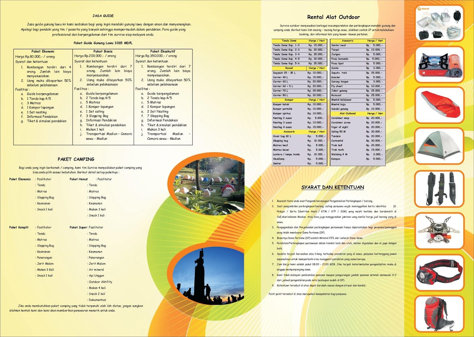 Outbound Madiun Outdoor Rental Alat Tas Tenda Kap 4 5 6 085736227850
