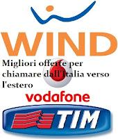Offerte Vodafone, Wind e Tim per chiamare all'estero