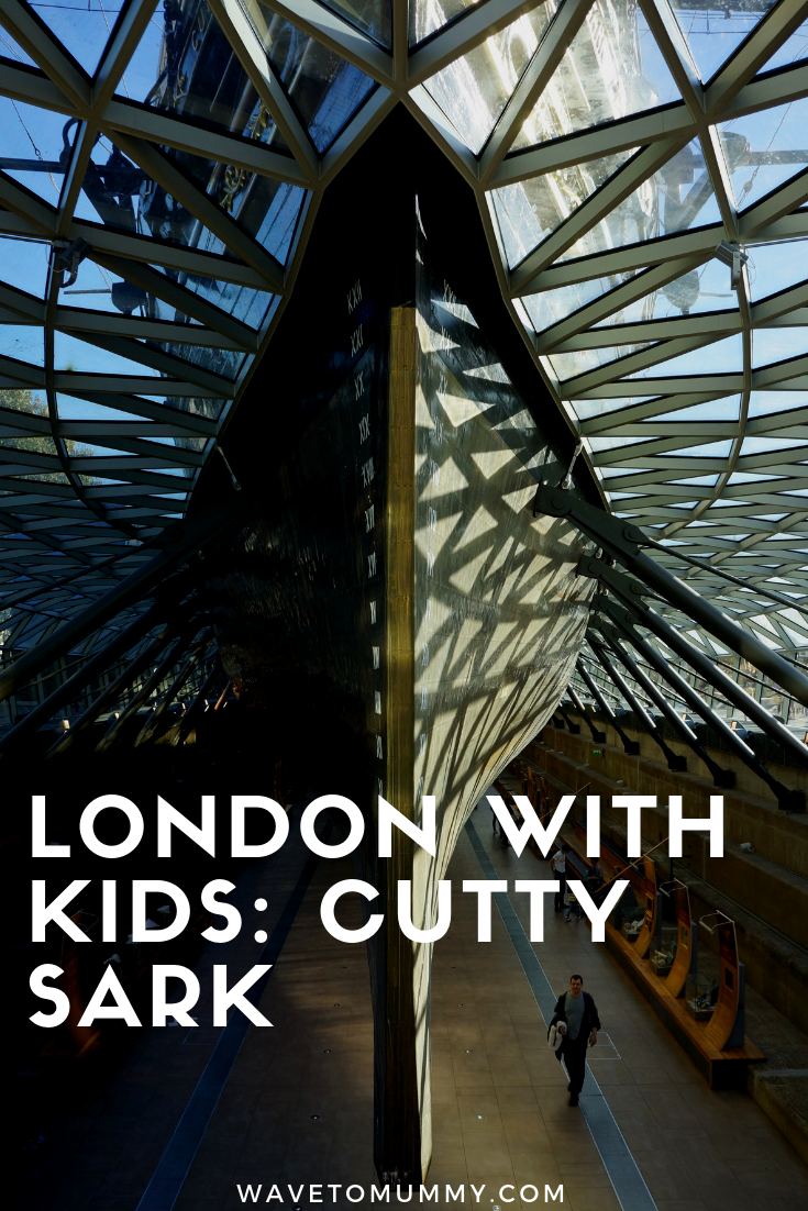 Review and top tips for visiting Cutty Sark with kids. A historic ship in Greenwich London, and a great place for kids to experience and learn about.