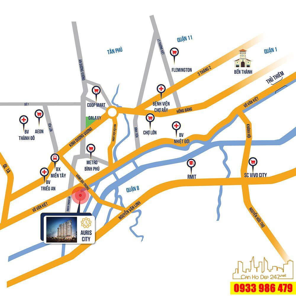 Vị trí dự án Căn hộ Auris City