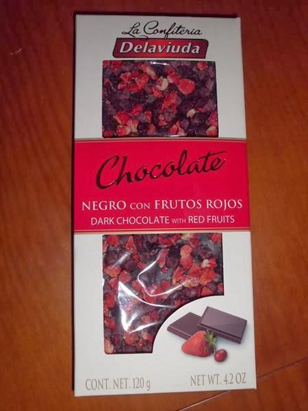 chocolate de fresas y arandanos