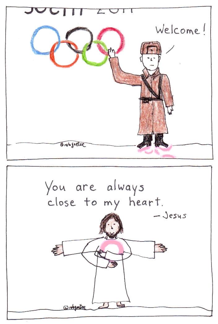 sochi olympics and close to my heart, drawings by robg