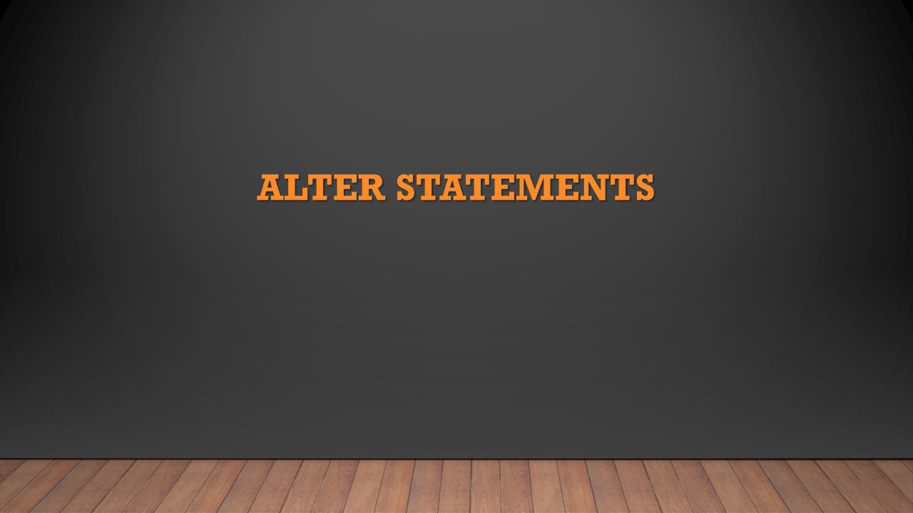 SAP HANA: ALTER statements | HANA