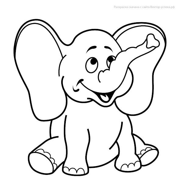 tranh tô màu động vật cho bé tập tô màu 10