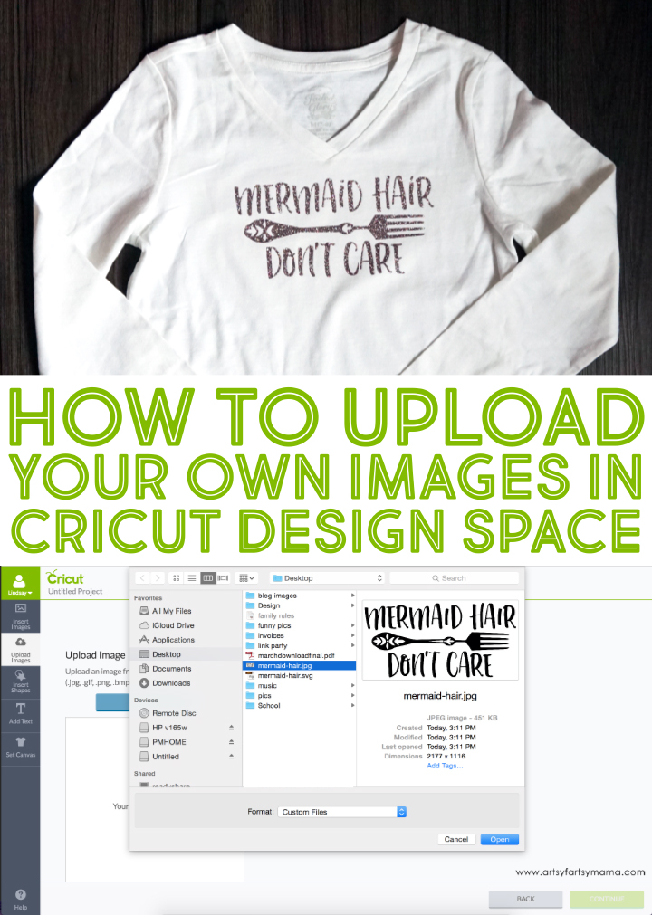 How to upload your own images in cricut design space How to design shirt