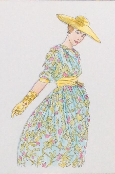Colour Vintage Vogue Colouring Fashion