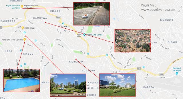 Kigali Tourist Map