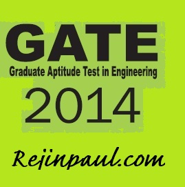GATE notifications 2014
