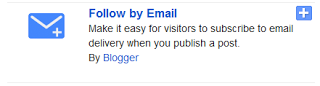 Follow By email widget on your bloger blog