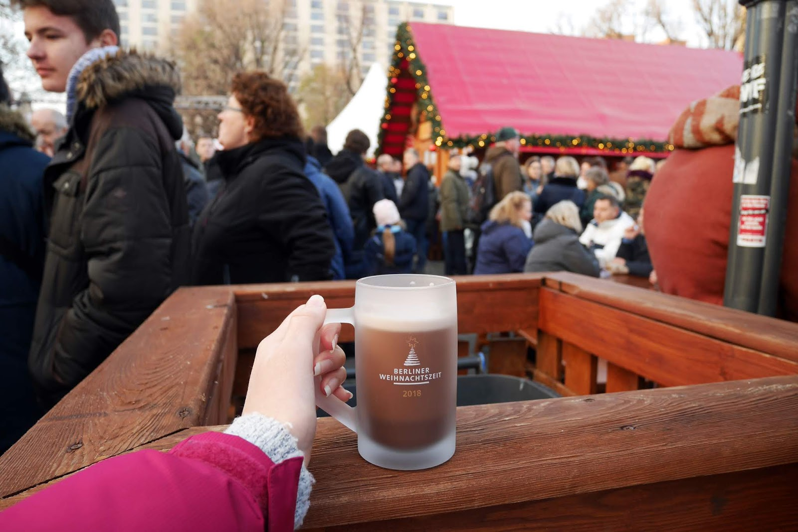 Hot Chocolate at the Alexanderplatz Christmas Market in Berlin