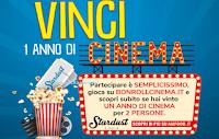 Logo BonRoll AIA: vinci 50 carnet ''un anno di cinema per 2 persone''