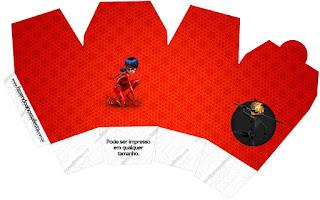 Miraculous Ladybug Free Printable Chinese Take Away Box.