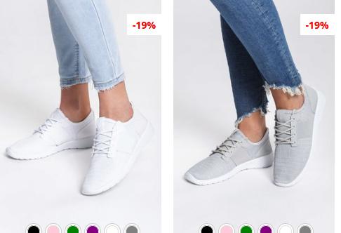 Pantofi sport dama gri, Albi simpli si ieftini