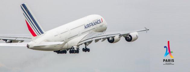 Air France - Patrocinador Oficial de la candidatura de París para albergar los Juegos Olímpicos de 2024