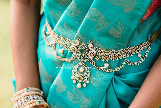 Diamond Peacock Waist Belt