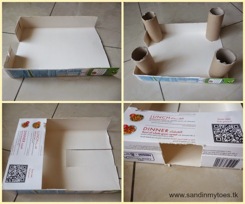 DIY Cereal Box Parking Garage