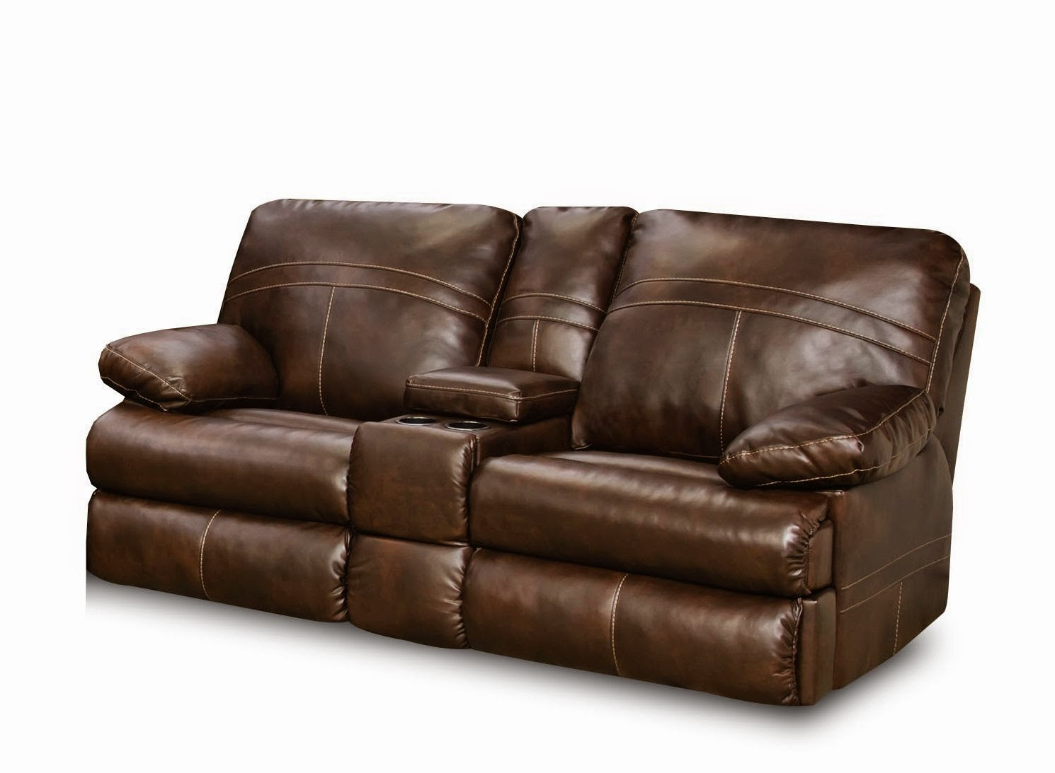The best reclining leather sofa reviews simmons leather reclining sofa and loveseat Loveseats with console