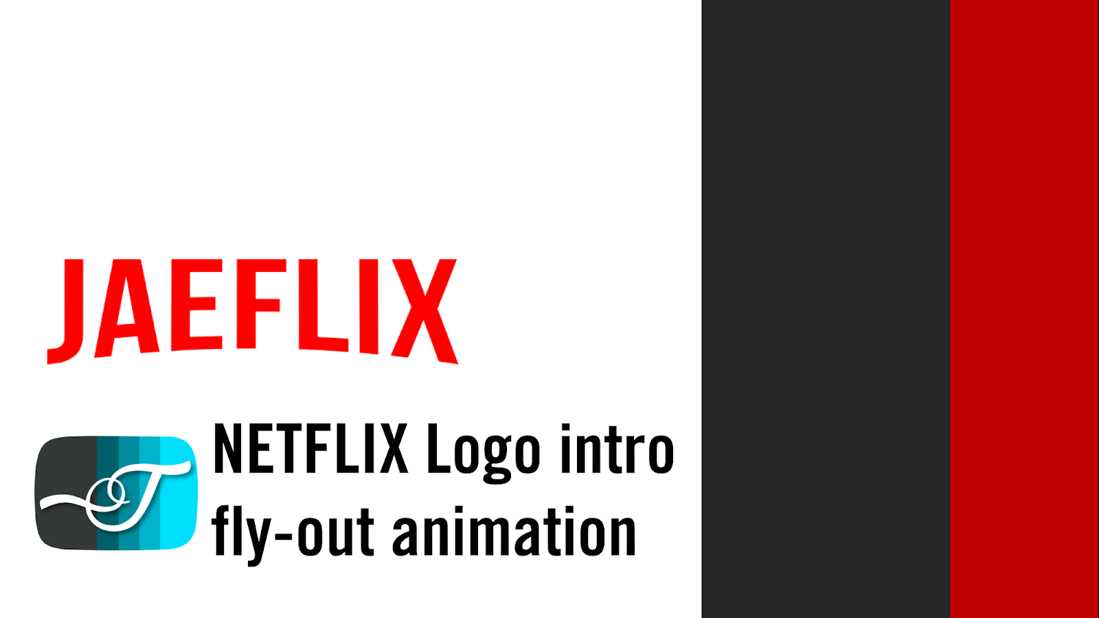 Netflix Logo Effect Fly-out Intro Using PowerPoint Animation Motion