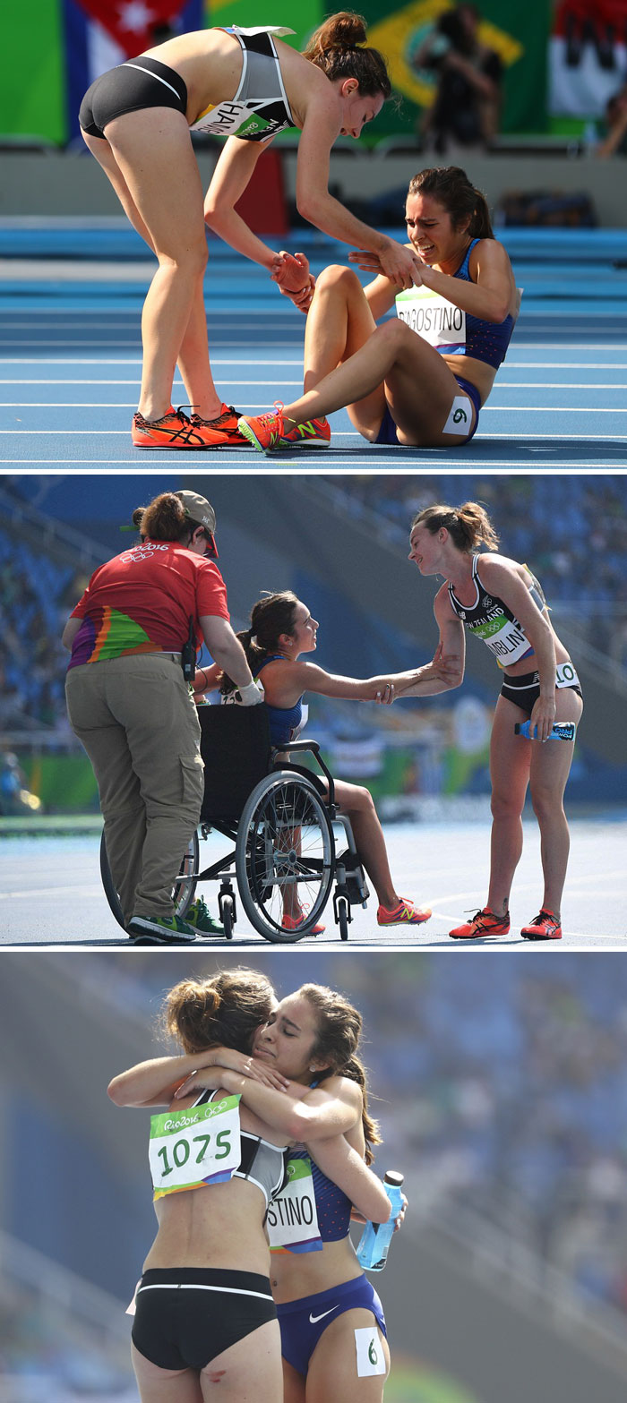 40 Times 2016 Restored Our Faith In Humanity - Olympic Runners Who Came Last After Helping Each Other Get Moved To The Finals
