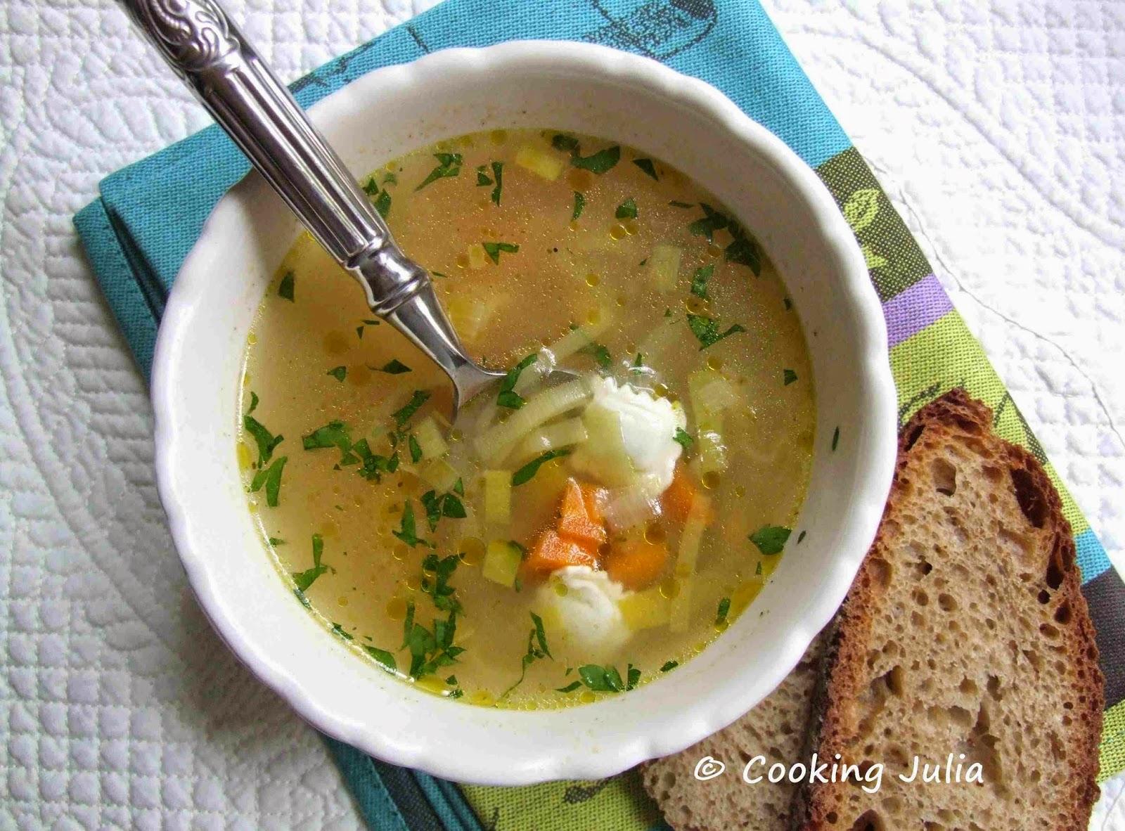 Cooking Julia Bouillon De Legumes Aux Ravioles