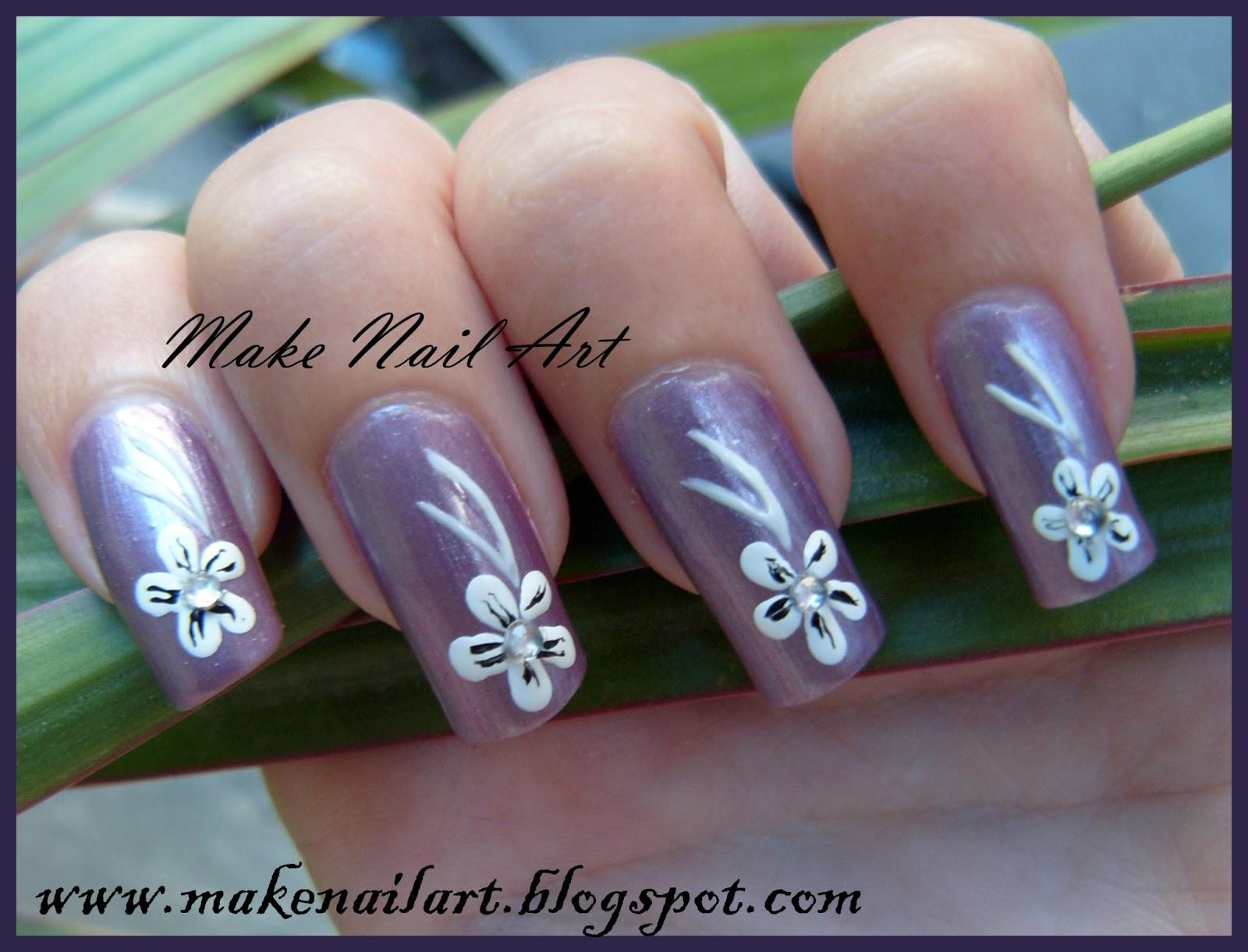 Make Nail Art Easy Flowers Nail Art Tutorial
