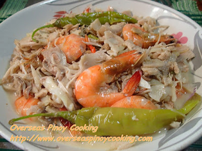 Ginataang Langka with Sugpo