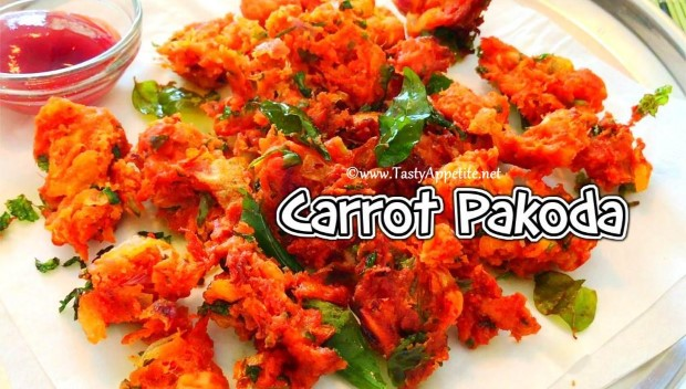 carrot pakoda recipe