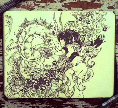 04-Spirited-Away-Gabriel-Picolo-365-Days-of-Doodles-www-designstack-co