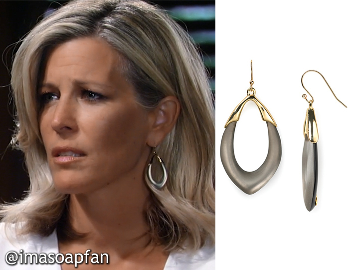 Carly Corinthos's Lucite Orbit Link Earrings - General Hospital, Season 54, Episode 08/25/16