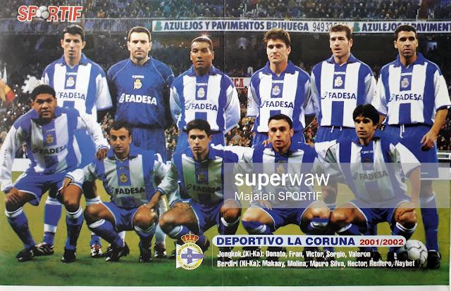 TEAM DEPORTIVO LA CORUNA 2001/2002