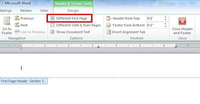 Memberi Nomor Halaman Berbeda Setiap Awal Bab Pada Ms Word